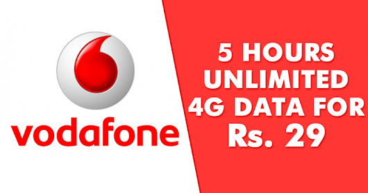 Unlimited 4g Data Loot - Get Unlimited Night Data 1-6 AM On Vodafone In Just Rs.29