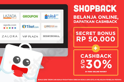 Dapetin Cash Back dari Shop Back
