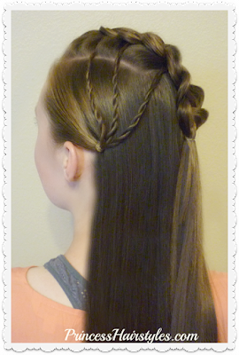 "Braided ""Faux Hawk Fan"" Half Up Hairstyle"