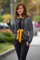 Jacheta gri din lana