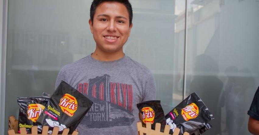 Snacks de quinua y energizante de maca, creativos inventos de chicos Beca 18
