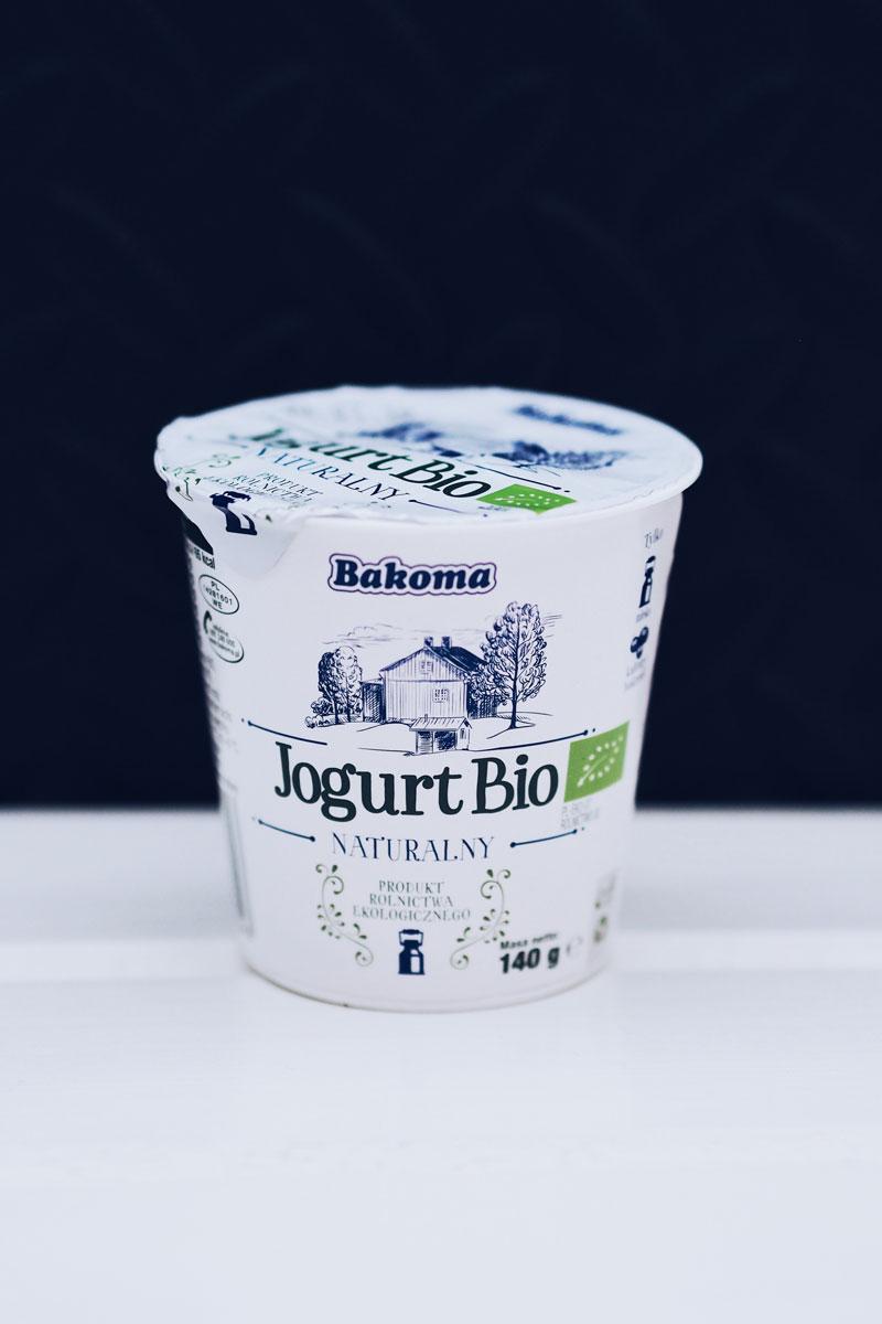 Jogurt bio naturalny firmy Bakoma.