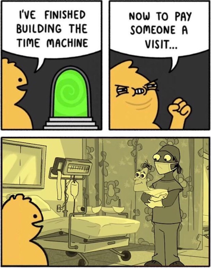 The best use of a time machine