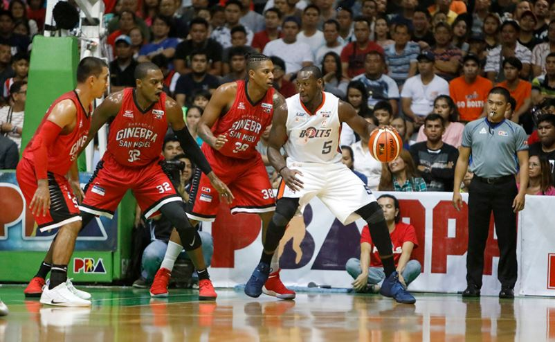 Ginebra Kings and Meralco Bolts battle for a crucial 3-2 lead.