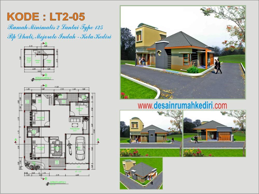 Aplikasi Desain Rumah Minimalis Gratis  lt2 05 rumah tinggal minimalis mojoroto indah kota kediri