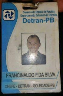 Diretor do Detran de Soledade preso com carro roubado é liberado