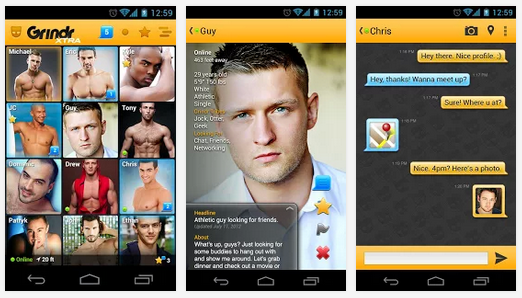 Gay hookup app Grindr launched in March