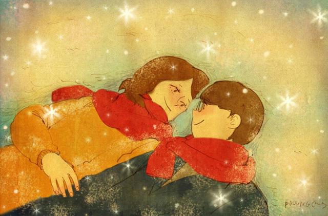 Aşk taze kar üzerine yatıp birbirine bakmaktır