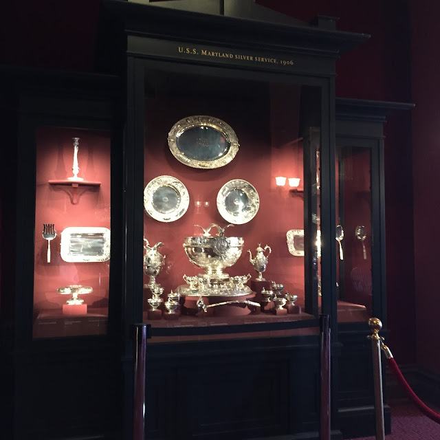 Maryland's State Silver Service on display at the Maryland State House