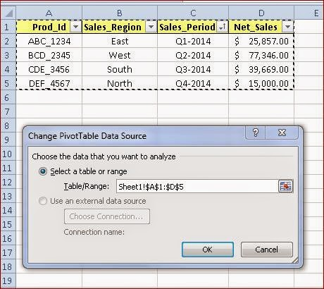 How To Create And Select Dynamic Range For A Pivot Table Or