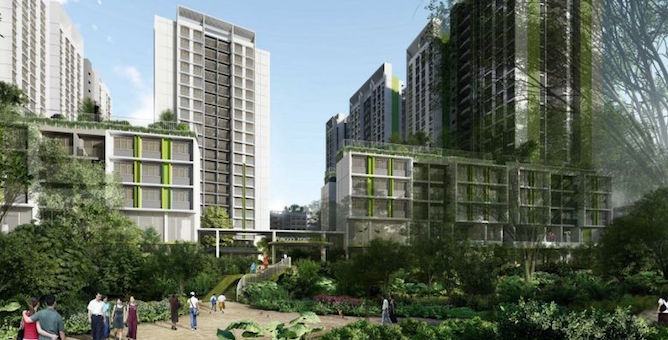 The projects - the 940-unit Punggol Point Woods and the 1,172-unit Punggol Point Cove - are expected to be completed by 2023.