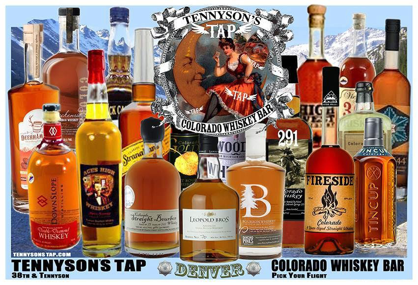 Many different types of Colorado-distilled Whiskey