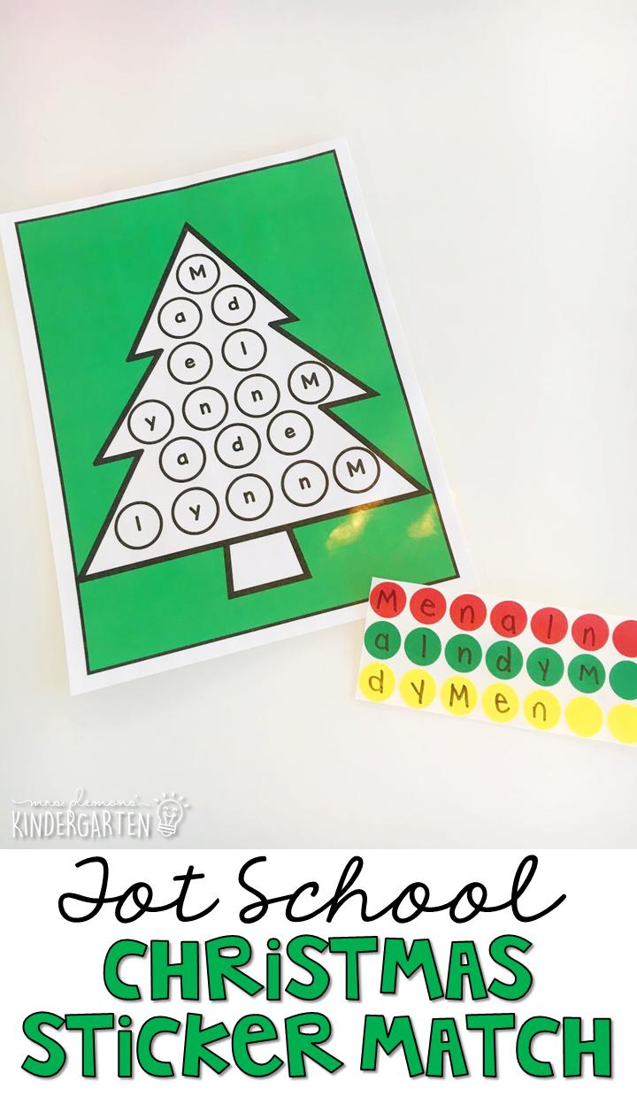 Tot School: Christmas - Mrs. Plemons\' Kindergarten