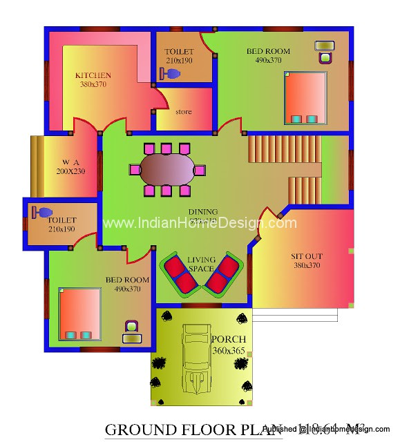 The gallery for kerala house plans with estimate free for House plan kerala style free download