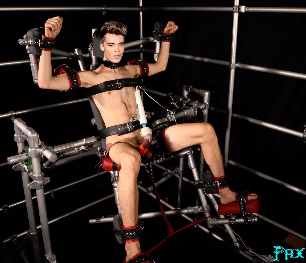 Explicit male bondage