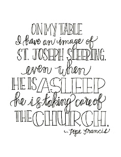 click here for the pope francis st joseph quote coloring page
