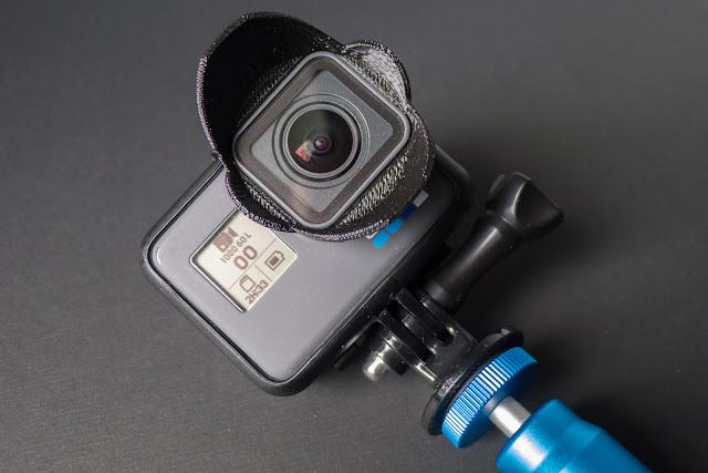 GoPro hero 6 en photographie pare-soleil