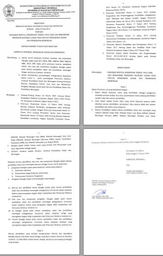 Surat Juknis Pengisian Blangko Ijazah Tahun 2019