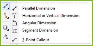 Dimension Flyout CorelDRAW X7