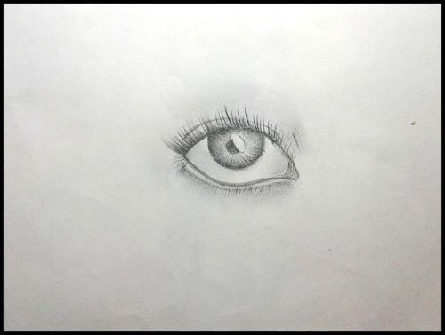 how to draw eyes step by step