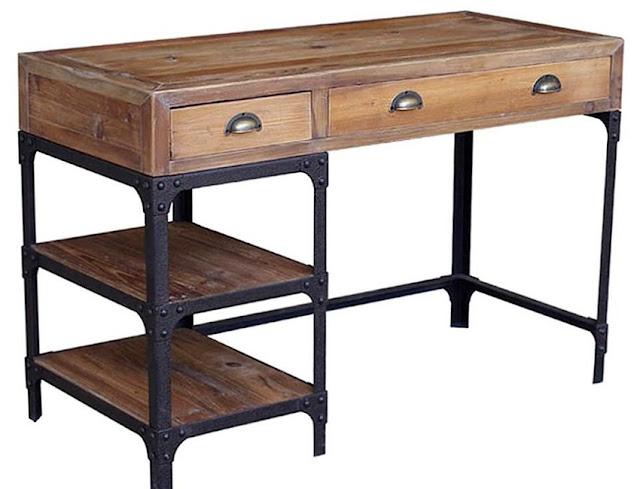 best buying rustic metal office desks for sale