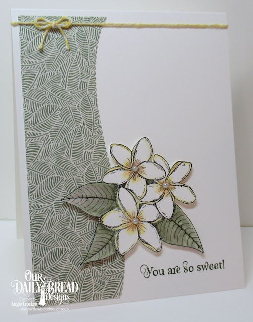 ODBD Sweet As Perfume, ODBD Custom Leafy Edged Borders Dies, ODBD Custom Pierced Rectangles Dies, Card Designer Angie Crockett