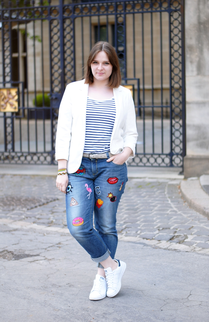 outfit DIY patch jeans