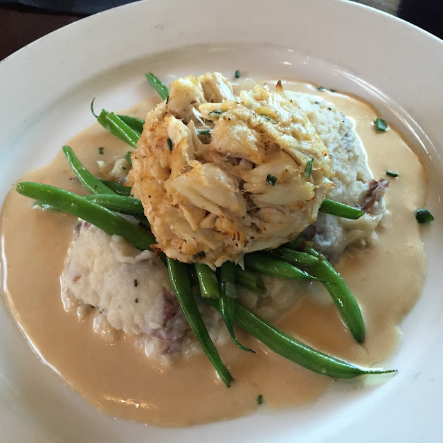 Maryland crab cake at Bridges Restaurant on Kent Island