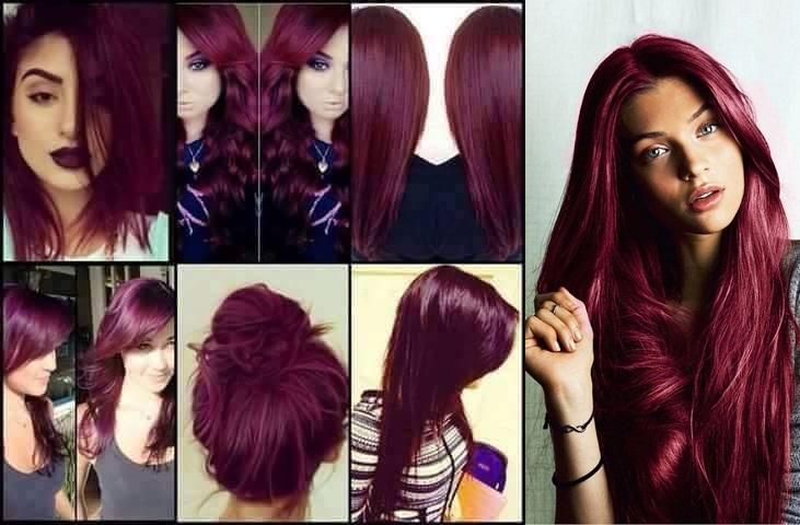 Espelho Hair Como Pintar Um Cabelo De Violeta E Marsala