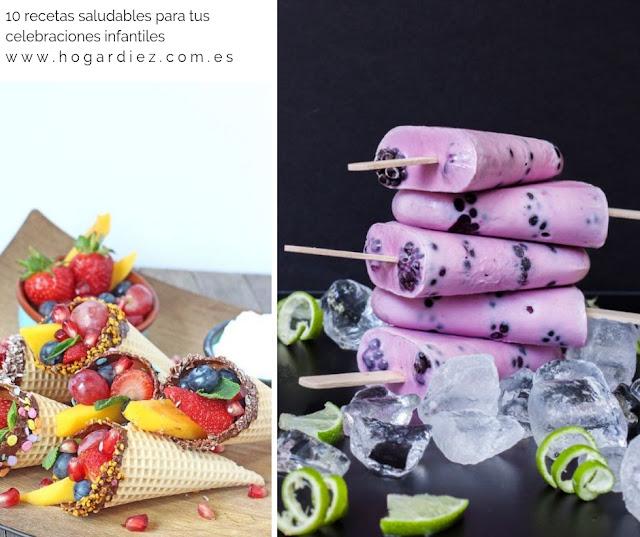 10 recetas saludables para una celebración infantil