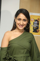 Pragya Jaiswal in a single Sleeves Off Shoulder Green Top Black Leggings promoting JJN Movie at Radio City 10.08.2017 102.JPG