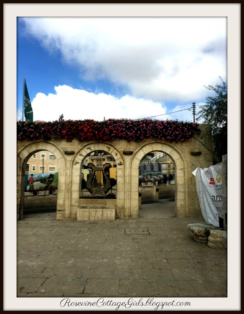 Arched wall to the City of David Israel