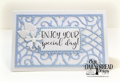 Our Daily Bread Designs Stamp Set: Celebrating You, Custom Dies:  A Gift For You, Gift Card Holder, Bitty Blossoms
