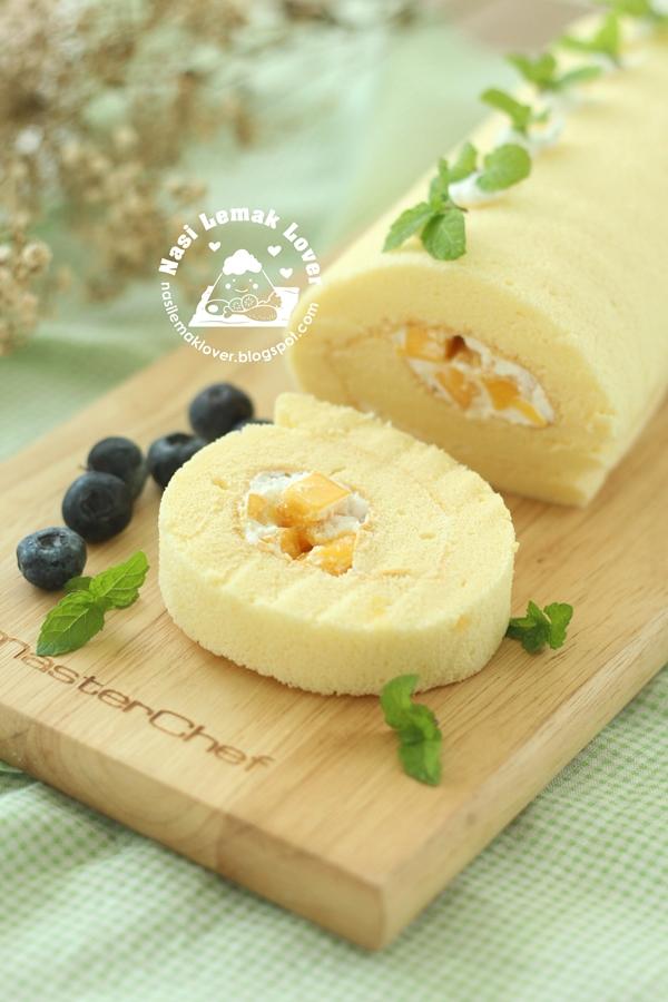 Mango Cream Roll Cake