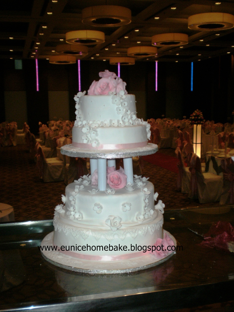 home baked wedding cakes eunice home bake klang 4 tiers wedding cake adam 15276