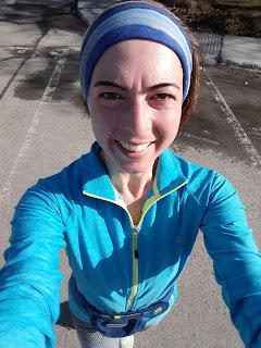 Coureuse souriante, Montréal, soleil