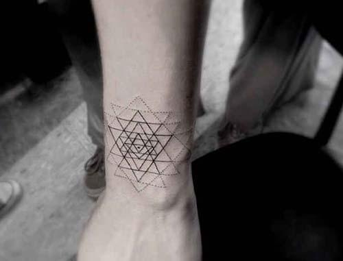 geometrik bilek dövmeleri geometric wrist tattoos 5