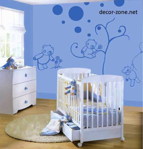 wall decorating ideas for newborn kids room