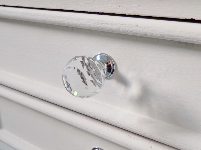 round crystal glass drawer knobs