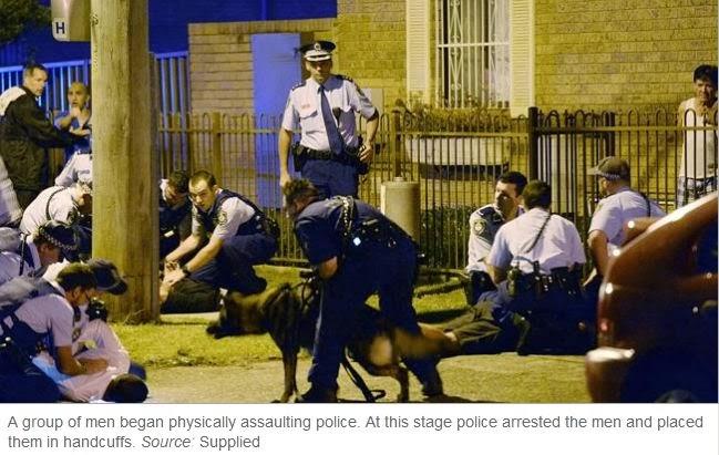 Aussie News & Views: Sydney's Occupied Territories:Wild Mob attack