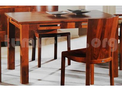 mesa comedor en teca 4006