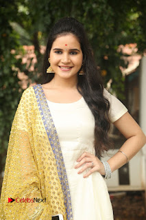 Shivshakti Sachdev Pictures in White Salwar Kameez at VR Chalanachitralu Production No. 1 Movie Opening | ~ Bollywood and South Indian Cinema Actress Exclusive Picture Galleries
