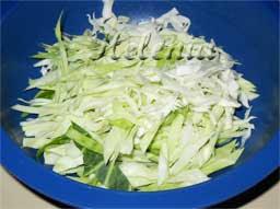 как резать капусту на салат