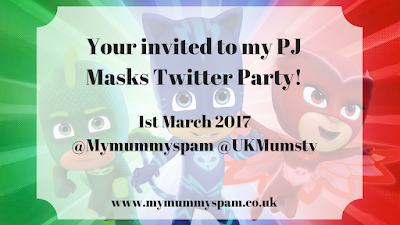 PJ masks, twitter, uk mums tv, party, mymummyspam