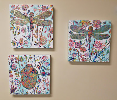 colorful bug paintings