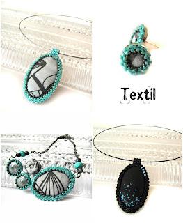 Textil-gyöngy ékszerek