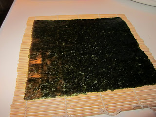 seaweed on a rolling mat