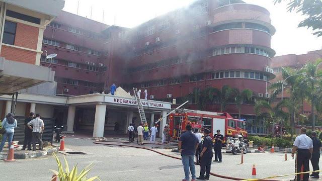 Video & Gambar Hospital Sultanah Aminah Yang Terbakar, 6 Maut