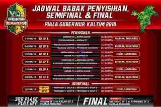 Kontestan peserta Piala Gubernur Kaltim 2018