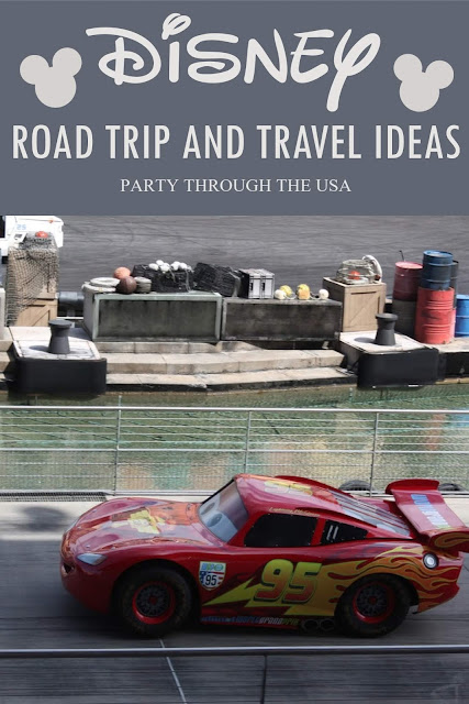Disney Road Trip and Travel Ideas // Party Through the USA // Road Trips  // Disneyland // Disney World // Disney Parks // Family Vacations // Disney Princesses // Pixar